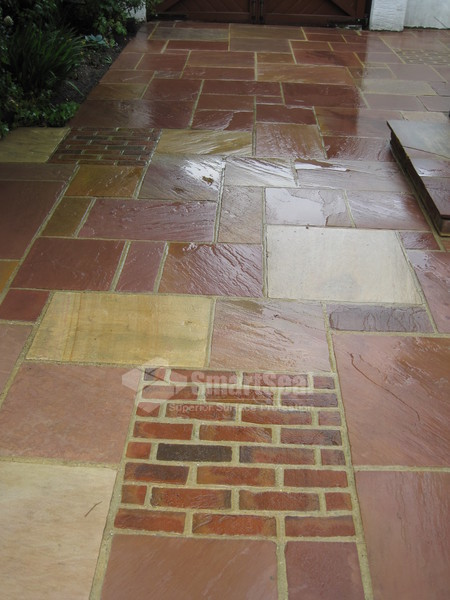 Indian sandstone just cleaned
